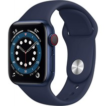 watch series 6 gps 44mm blue alu case navy sport band