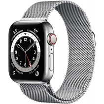 watch series 6 gps + cell 40mm sil. steel silver milanese