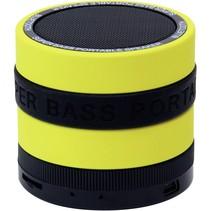 wireless bluetooth super bass speaker zwart/geel