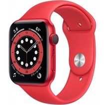 watch series 6 gps + cell 44mm red alu red sport band