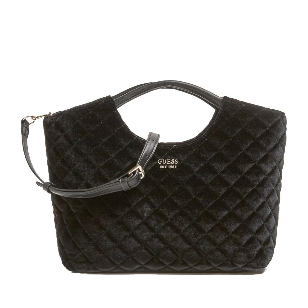 Guess Miriam Small Shopper fluweel zwart HWVT7436050/BLA