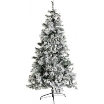 kunstkerstboom besneeuwd h 210cm incl. 370 led