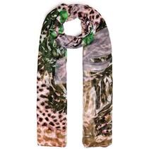 dames gekleurde luipaardprint shawl