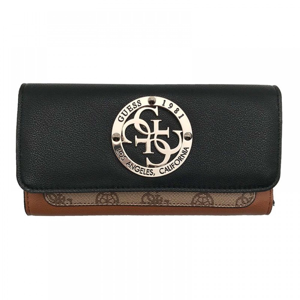 Guess dames portemonnee Magnolia SLG Trifold Cognac SWSG7441650/CGM