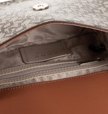 DKNY Ava printed schoudertas Ecru R933JD68 ECRU