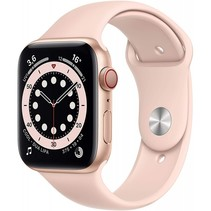 watch series 6 gps + cell 44mm gold alu pink sport band