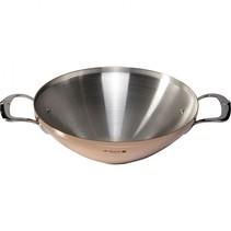 prima matera wok koper/rvs met 2 grepen ind.