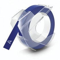3d labeltape 9 mm x 3 m plastic glanzend blauw