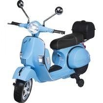 actionbikes vespa px 150 blauw kinderscooter