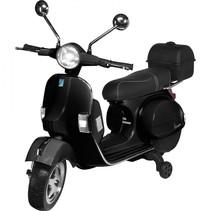 actionbikes vespa px 150 zwart kinderscooter