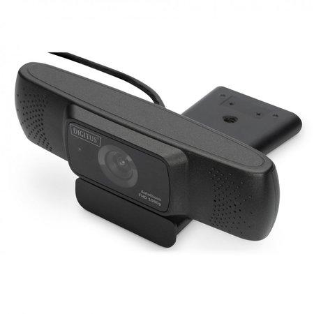 Digitus full hd webcam 1080p met autofocus, groothoek