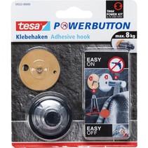 powerbutton zelfklevende haak chroom voor max. 8 kg