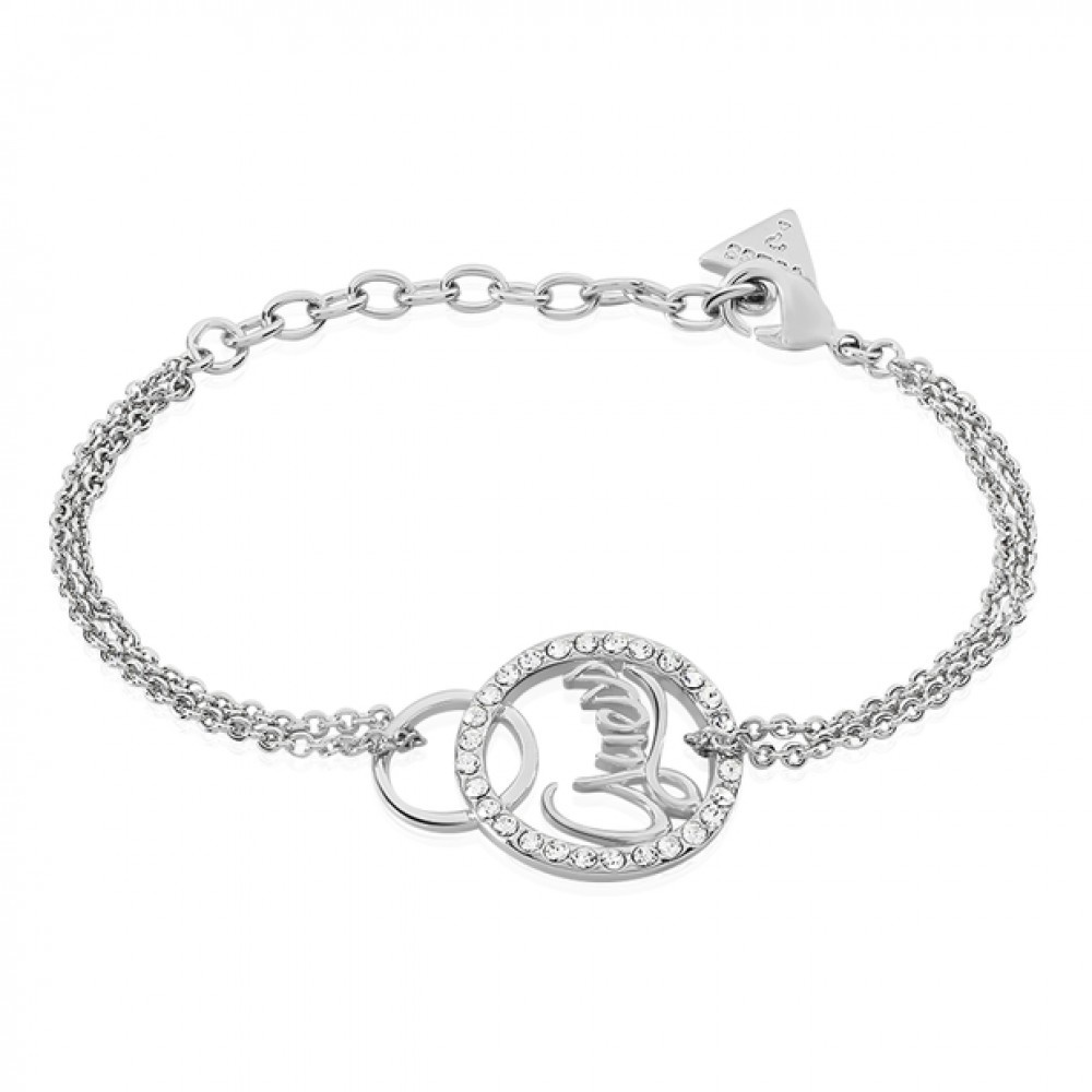 Guess authentics armband zilver UBB85143-S