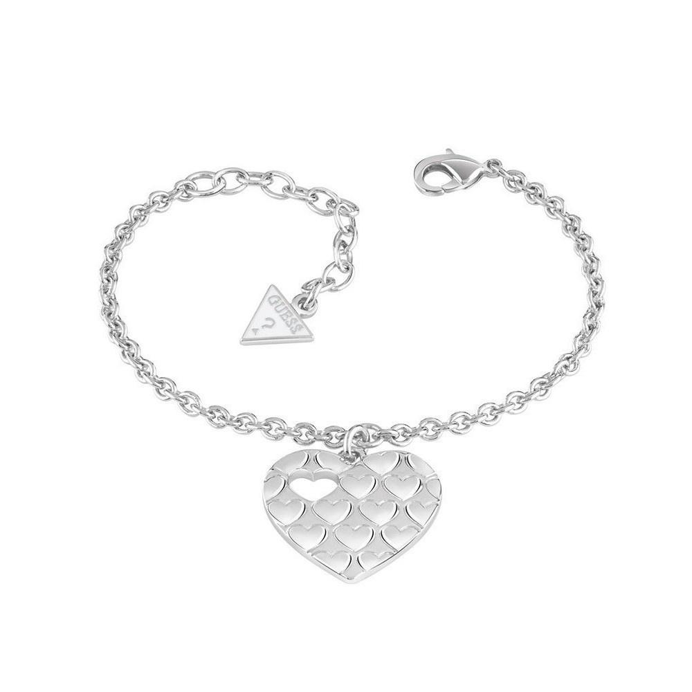 Guess armband Heart Devotion Zilver UBB82060-S