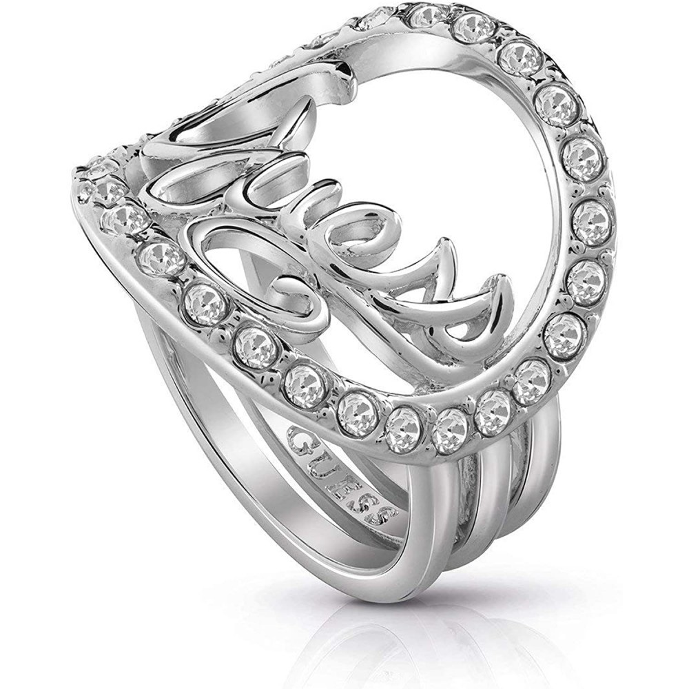Guess Authentics Ring Zilver UBR85049