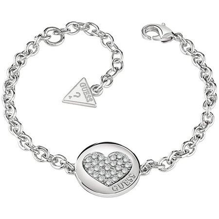 Guess Heart Devotion Armband Zilver UBB82051-S