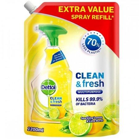 Dettol Clean & Fresh citroen allesreiniger - 1200 ml spray refill