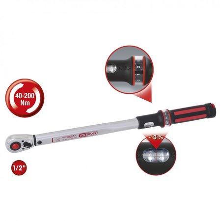 KS Tools 1/2 ergotorque40-200 rood, ratel-draaimomentsleutel