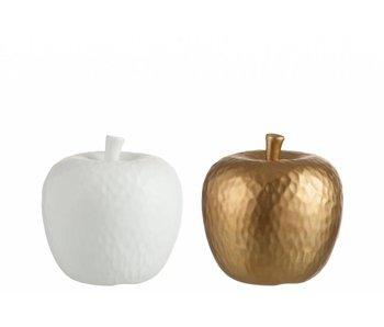J-Line Appel wit of goud 16X16 cm