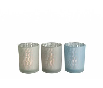 J-Line TLH RECHT GLAS GIJS GROEN OF BLAUW M 13CM