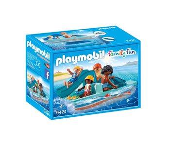 Playmobil Bateau à pédales avec glisser