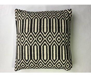Kussen black & white 45x45 cm