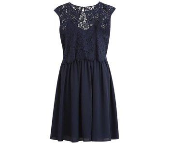 VILA Viulvica S/L dress - blue - 36