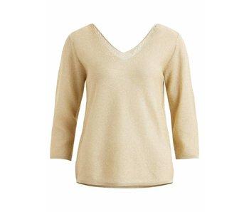 VILA Vivera 3/4 sleeve knit - sand - XS