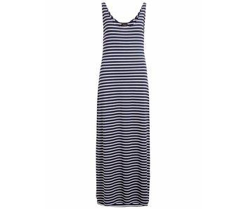 VILA Videana S/L maxi dress - white blue - large