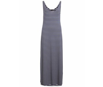 VILA Videana S/L maxi dress - white blue - XL
