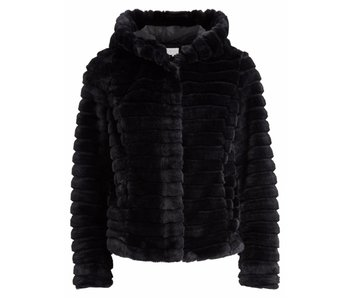 VILA Copy of Vimaya faux fur jacket - black - 40