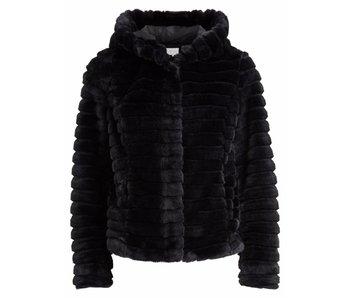 VILA Copy of Vimaya faux fur jacket - black - 42