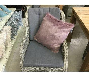 Sierkussen pelt roze 45x45