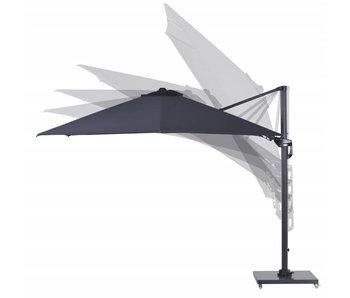 Parasol Hawaii II  300x300 cm  - gris foncé