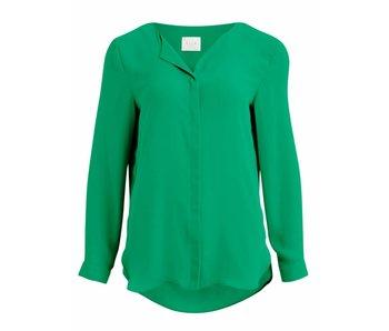 VILA Copy of Vilucy L/S shirt - green - XS