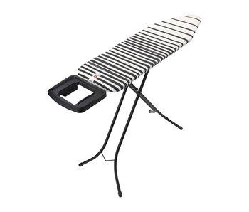 Strijktafel met solide ergonomische strijkijzerhouder 124x38 cm