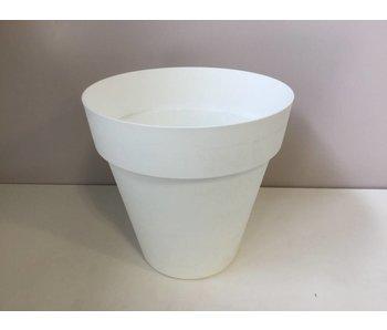 Bloempot white 34cm