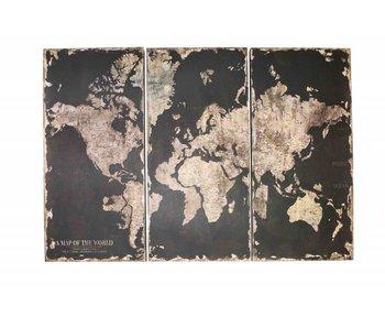 Hamilton Living Wandplaat Globe 3x 38x80cm