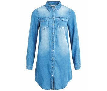 VILA Vibista Denim dress - blue - small