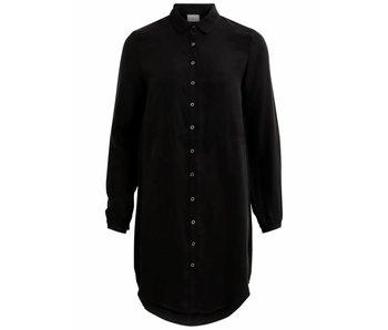 Viraf L/S shirt dress - black - 38