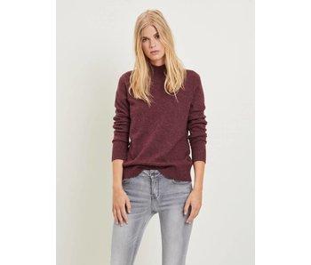 VILA Viril L/S turtleneck knit top - bordeau - large