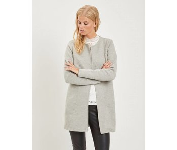 VILA Vinaja new long jacket - light grey - medium