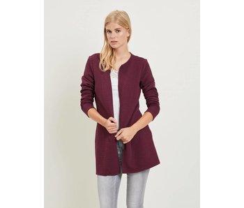 VILA Vinaja new long jacket - bordeau - small