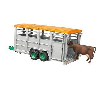 Bruder Livestock Trailer + 1  koe