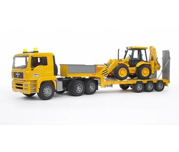 Bruder Vrachtwagen met dieplader en jcb loader