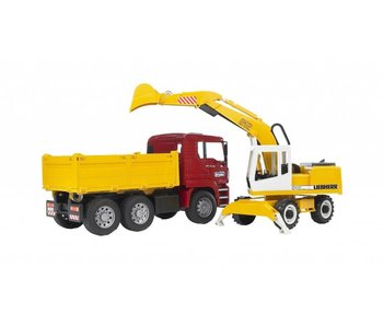 Bruder MAN TGA Camions avec camion de digger