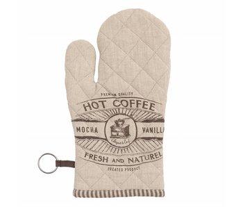 Clayre & Eef Ovenhandschoen Hot Coffee