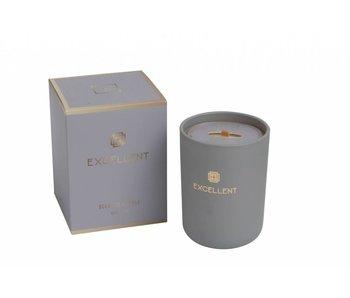 J-Line Bougie parfumée gris excellent  9x9x12cm