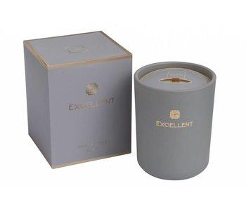 J-Line Bougie parfumée excellent gris 11x11x14cm