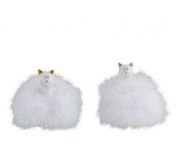 J-Line Chat paillettes(16x16x21cm)